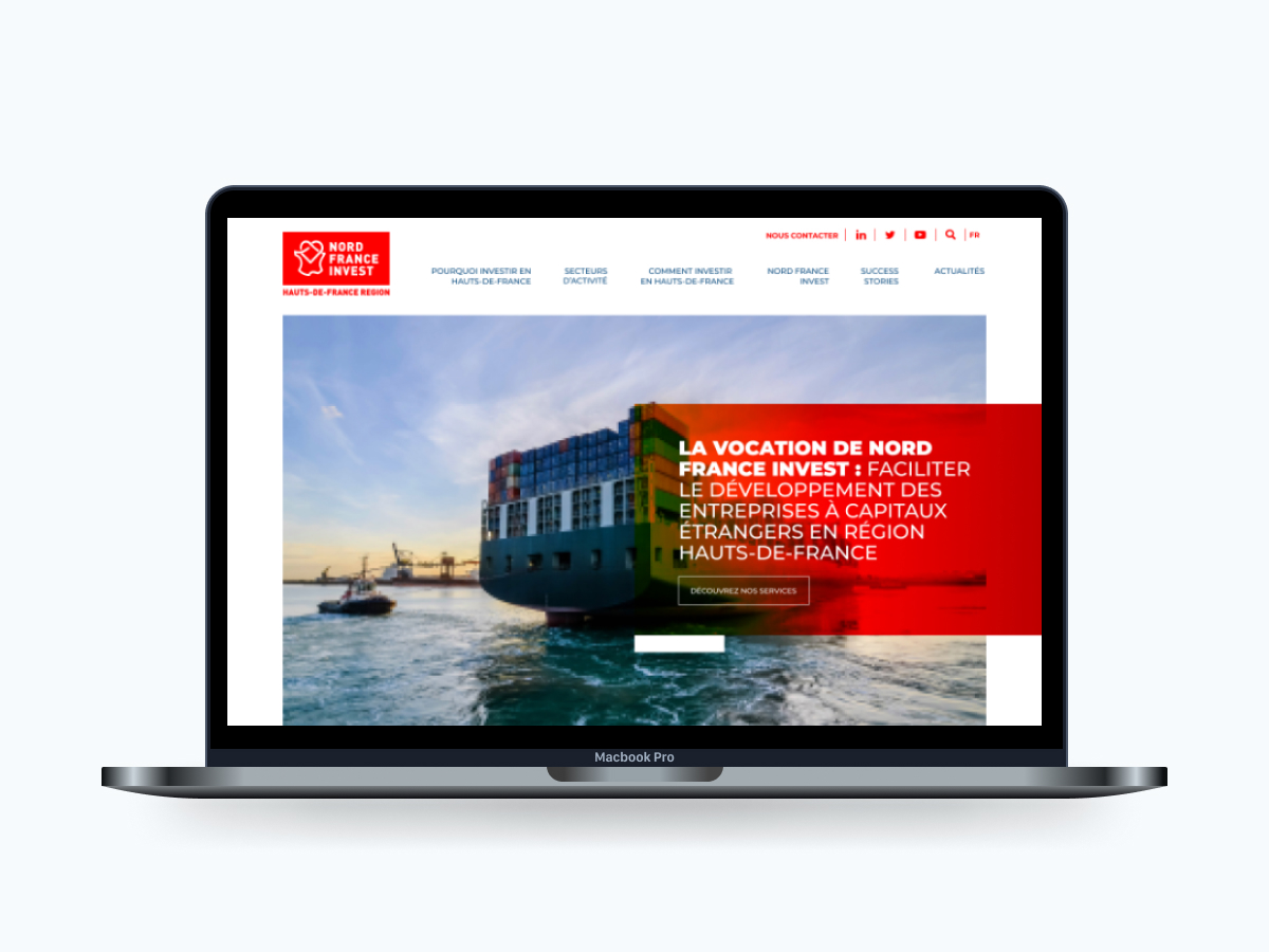 Nord France Invest site web institutionnel